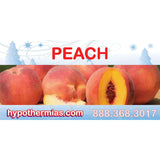 Label for shaved ice bottle peach