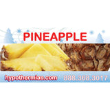 Label for shaved ice bottle pineapple
