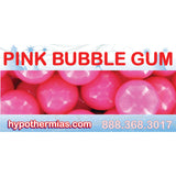 Label for shaved ice bottle pink bubble gum