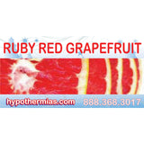 Label for shaved ice bottle ruby red grapefruit