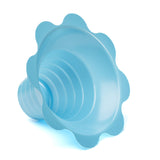 Shave ice flower cup small 4 ounce blue