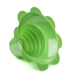 Shave ice flower cup small 4 ounce green