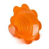 Shave ice flower cup small 4 ounce orange