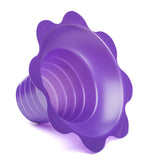 Shave ice flower cup small 4 ounce purple