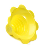 Shave ice flower cup small 4 ounce yellow