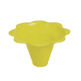 Shaved ice flower cup medium 8 ounce yellow
