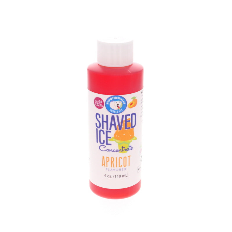 apricot shave ice flavor syrup concentrate 4 fl oz