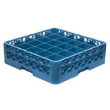Shaved ice bottle transport rack 25 compartment blue