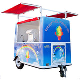 Shaved ice cart towable sunshade open