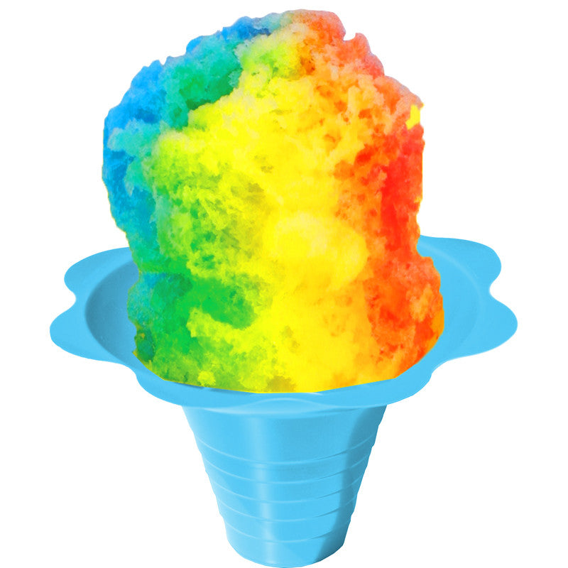 Shave ice flower cup medium 8 ounce blue