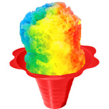 Medium shaved ice flavor cup red