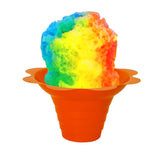 Shaved ice flower cup small 4 ounce orange with shave ice