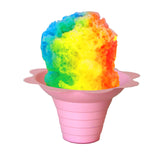 Shaved ice flower cup small 4 ounce pink with shave ice