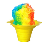 Shaved ice flower cup small 4 ounce yellow with shave ice