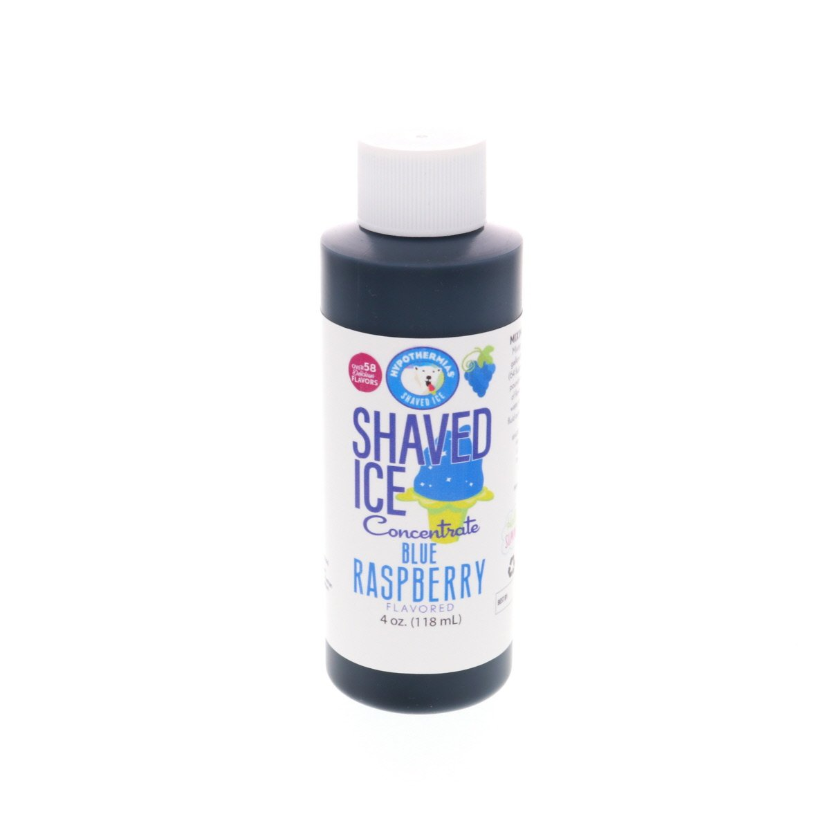 4 Fl Oz syrup concentrate for shaved ice blue raspberry