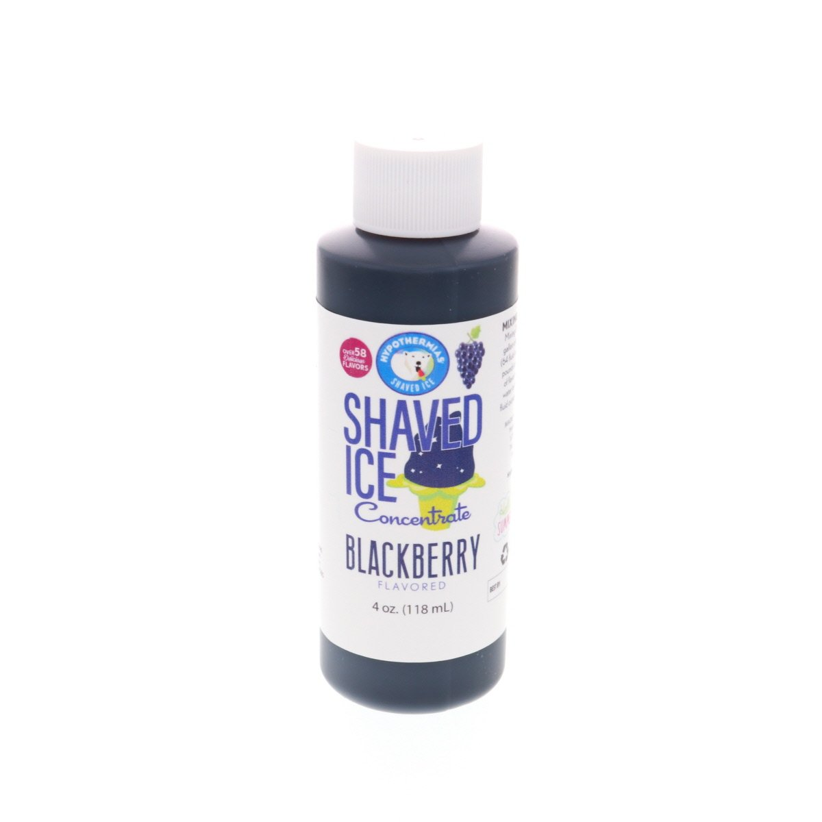 Blackberry shaved ice flavor syrup concentrate 4 Fl Oz