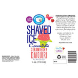 label for strawberry daiquiri flavor concentrate 4 Fl Oz