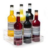 Six bottle rack two tier clear acrylic