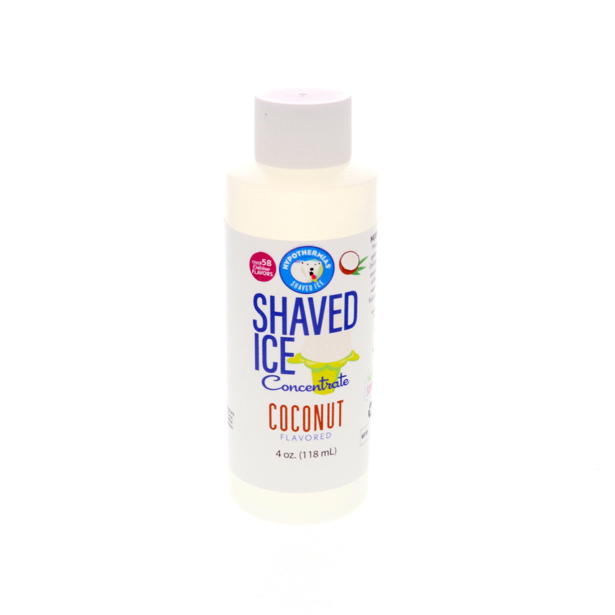Coconut Hawaiian shaved ice flavor concentrate 4 Fl Oz