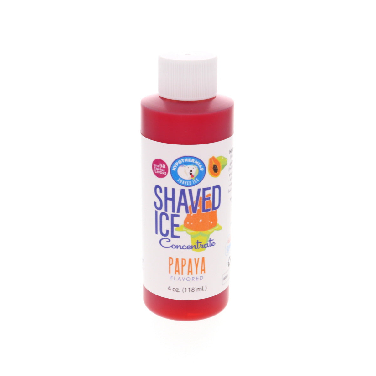 Papaya flavor syrup for shaved ice 4 Fl Oz
