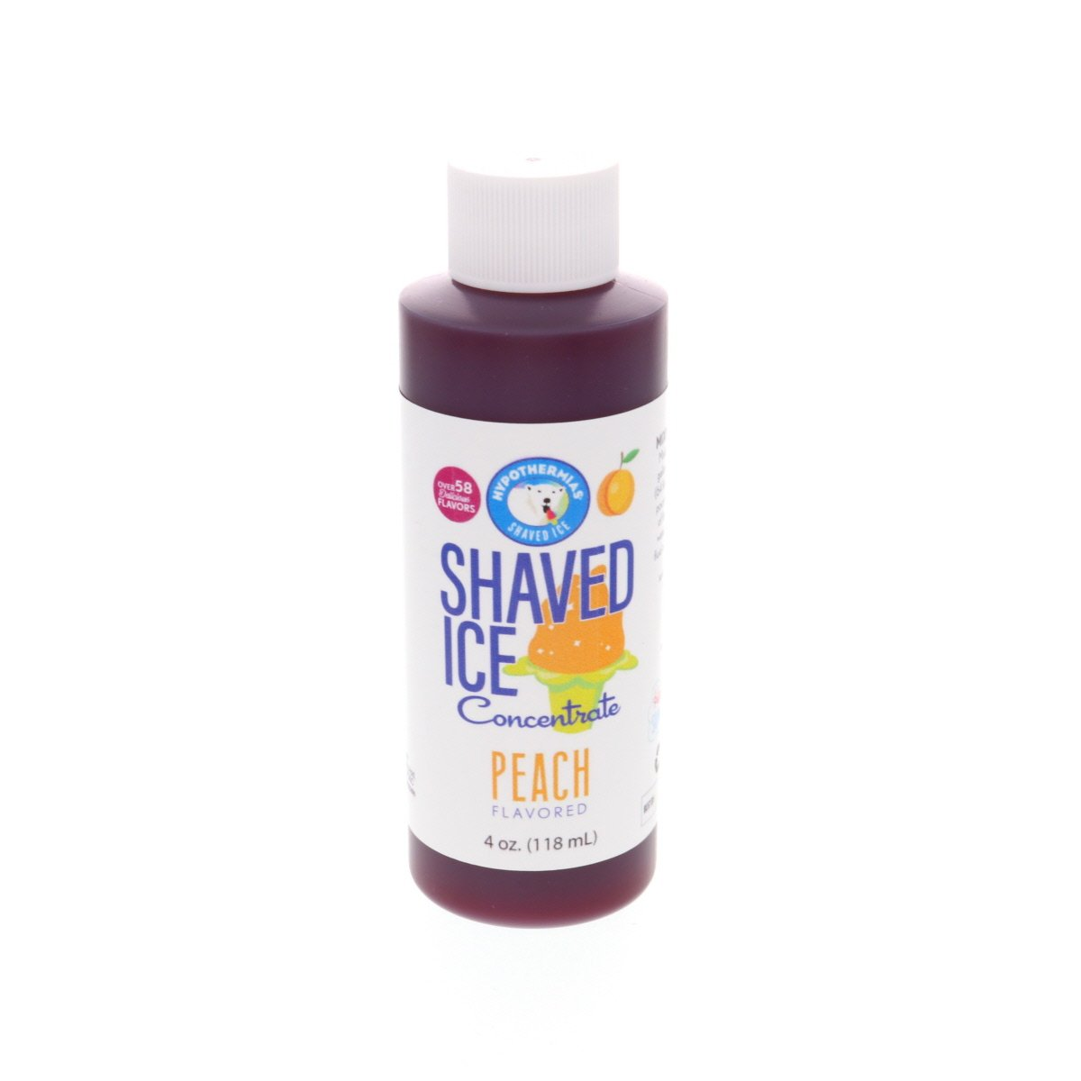 Peach shaved ice flavor concentrate syrup 4 Fl Oz