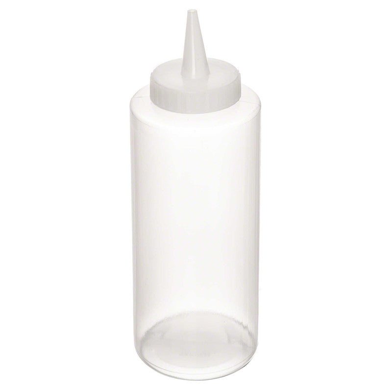 Squeeze dispenser bottle clear 12 ounce
