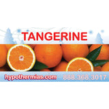 Label for shave ice bottle tangerine