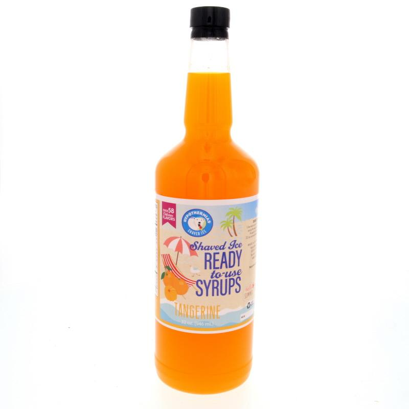 Tangerine snow cone flavored syrup quart