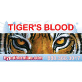 Label for shaved ice bottle tiger's blood