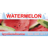 Label for shaved ice bottle watermelon