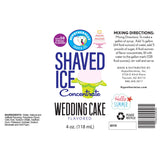 Ingredients label wedding shaved ice flavor concentrate
