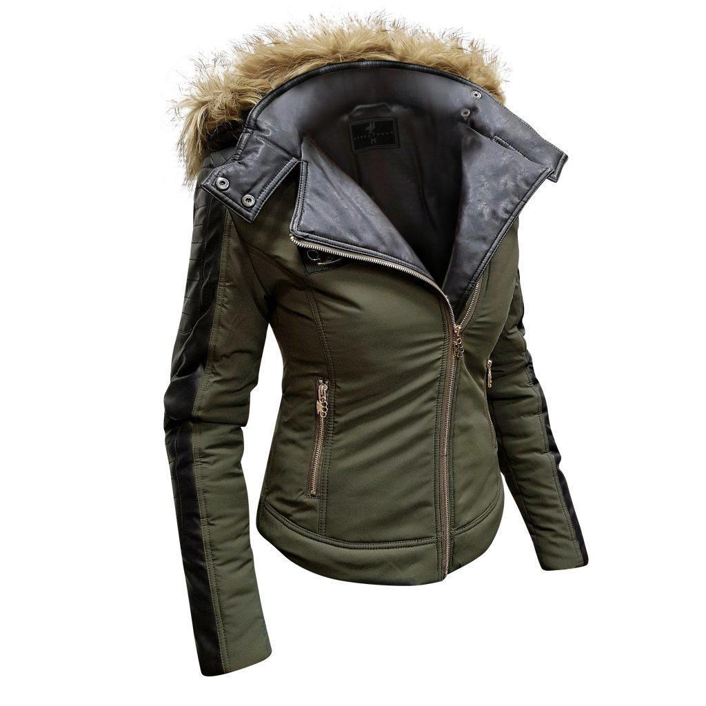 MVL Skull winter jacket-army green [Women]