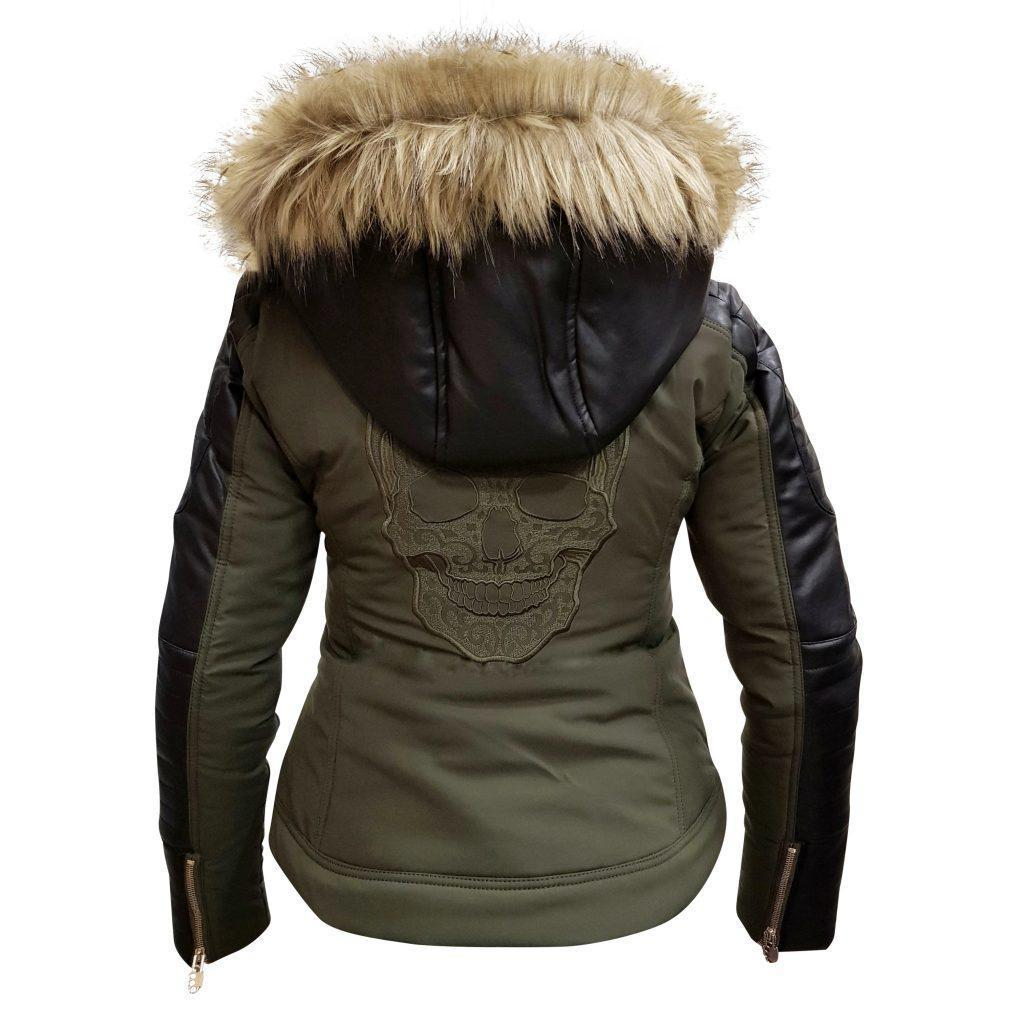 MVL Skull winter jacket - army green [Women]