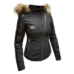MVL Skull winter jacket-Black [ Women]