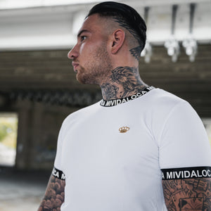 "MVL ""Bandit"" Chest logo T-Shirt - White"