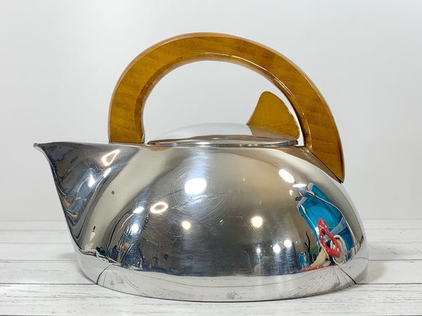 Picquot Ware Vintage Tea Kettle British Retro Modernist English