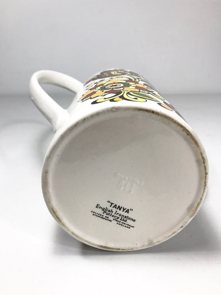 Vintage Staffordshire English Ceramic Coffee Pot Tanya Retro - Scandiwegians