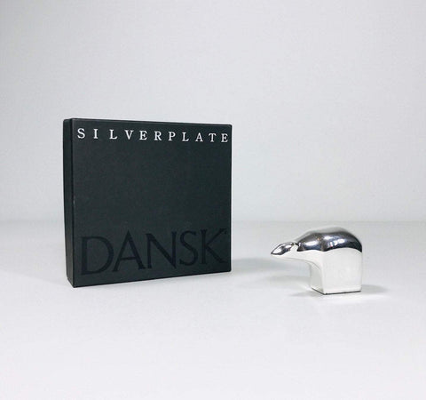Dansk Designs Silver-plated Polar Bear Paperweight Boxed Scandinavian
