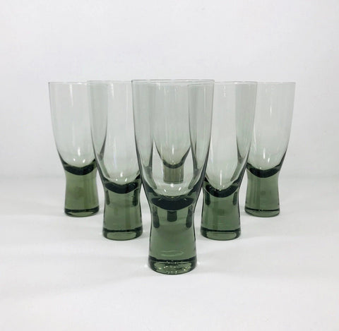 Holmegaard Canada Port Sherry Glasses Smoked 11.5cm 1950s Danish