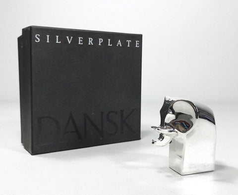 Dansk Designs Elephant Silver Paperweight Boxed Danish