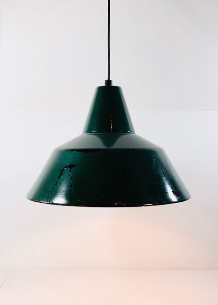 Louis Poulsen Danish Large 45cm Enamel Workshop Pendant Lamp Industrial Design - Scandiwegians