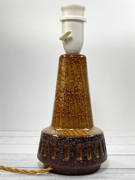 Michael Andersen Danish Pottery Ceramic Table Lamp Bornholm Yellow - Scandiwegians