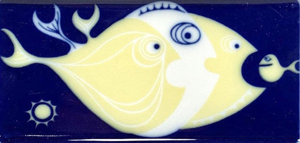 Bing & Grondahl Blue Fish Trinket Soap Dish Serving Scandinavian 1960s - Scandiwegians
