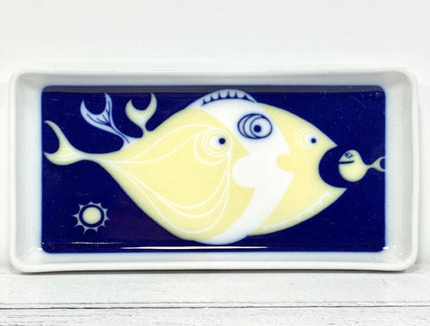Bing & Grondahl Blue Fish Trinket Soap Dish Serving Scandinavian 1960s
