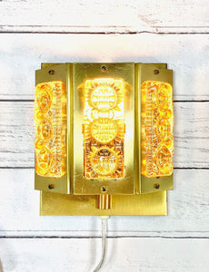 Vitrika Olympia Danish Glass Sconce Wall Lamp Retro Vintage Lighting Amber Yellow - Scandiwegians