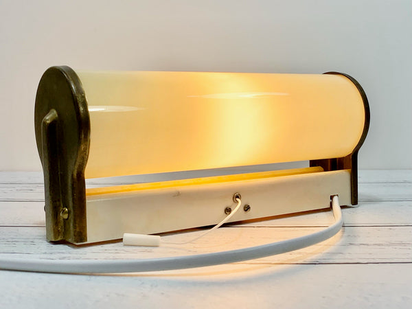 Vintage Art Deco Sconce Wall Lamp Glass Danish Retro 1930s 1940s 1950s Vanity Mirror Lighting