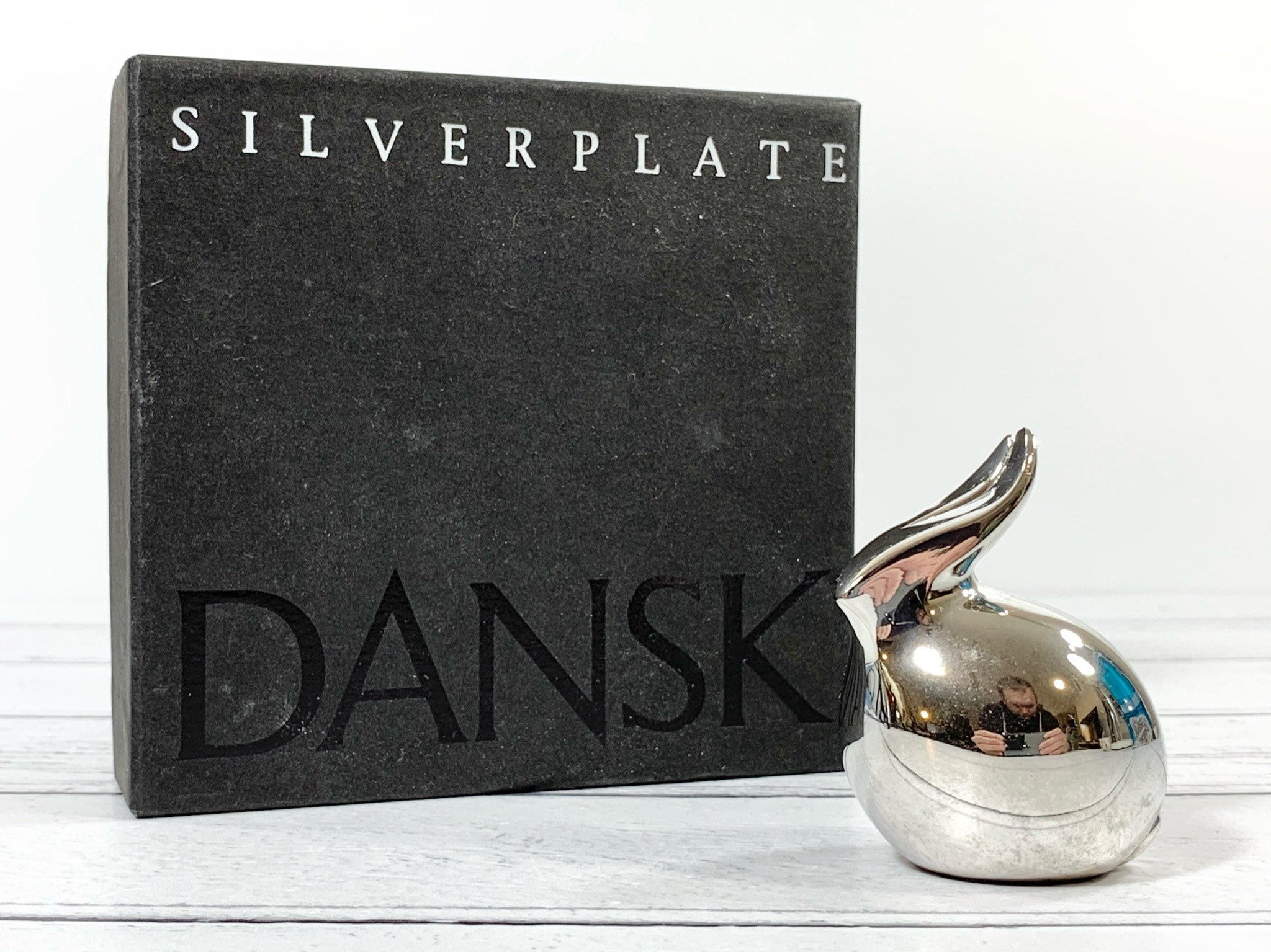 Dansk Silver Bunny Rabbit Paperweight Boxed Danish Designs Gifts Men Dads Office Work Job Presents Retro