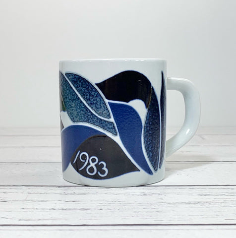 Royal Copenhagen Small 1983 Annual Mug 1983 Danish Gifts Presents Ceramic Pottery Vintage Retro