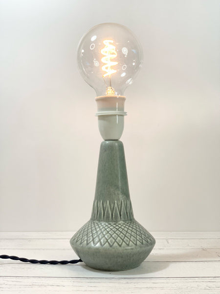 Vintage Soholm Pottery Grey Danish Ceramic Table Lamp Bedside Lighting Retro 926