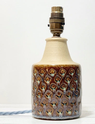 Soholm Pottery Caramel Danish Table Lamp Vintage 1960s Retro Ceramic 3008